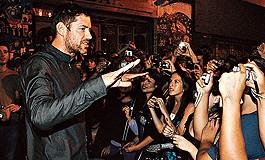 Ed y fans chilenos