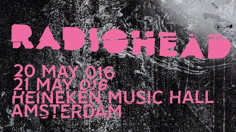Gira 2016: Heineken Music Hall, Amsterdam (día 1)