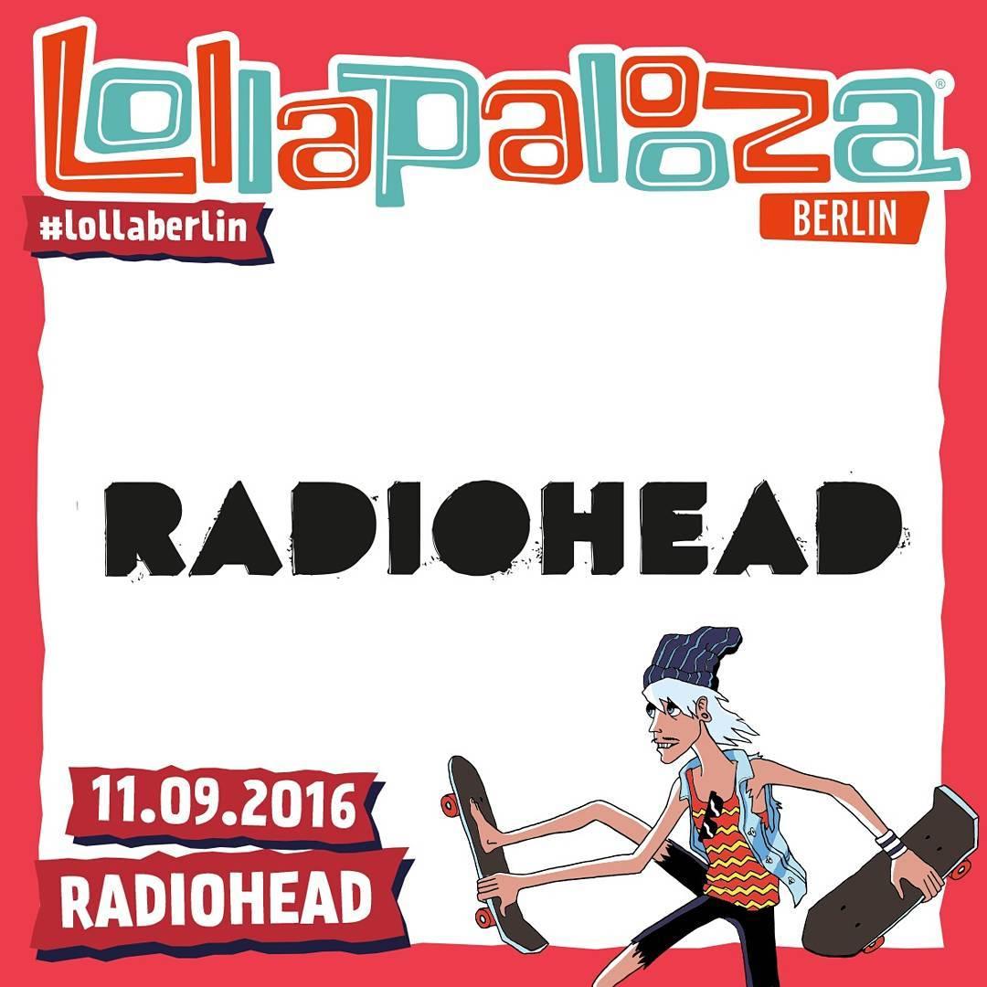 Gira 2016: Festival Lollapalooza Berlín