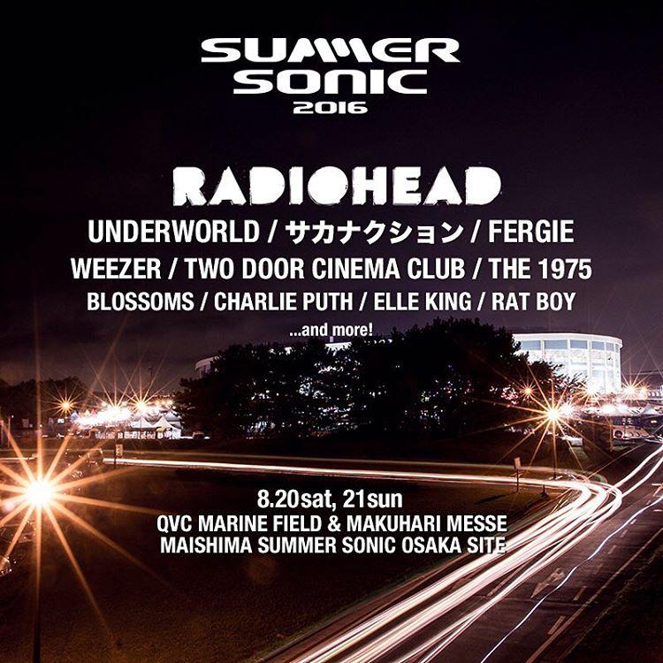 Gira 2016: Summer Sonic Festival, Osaka
