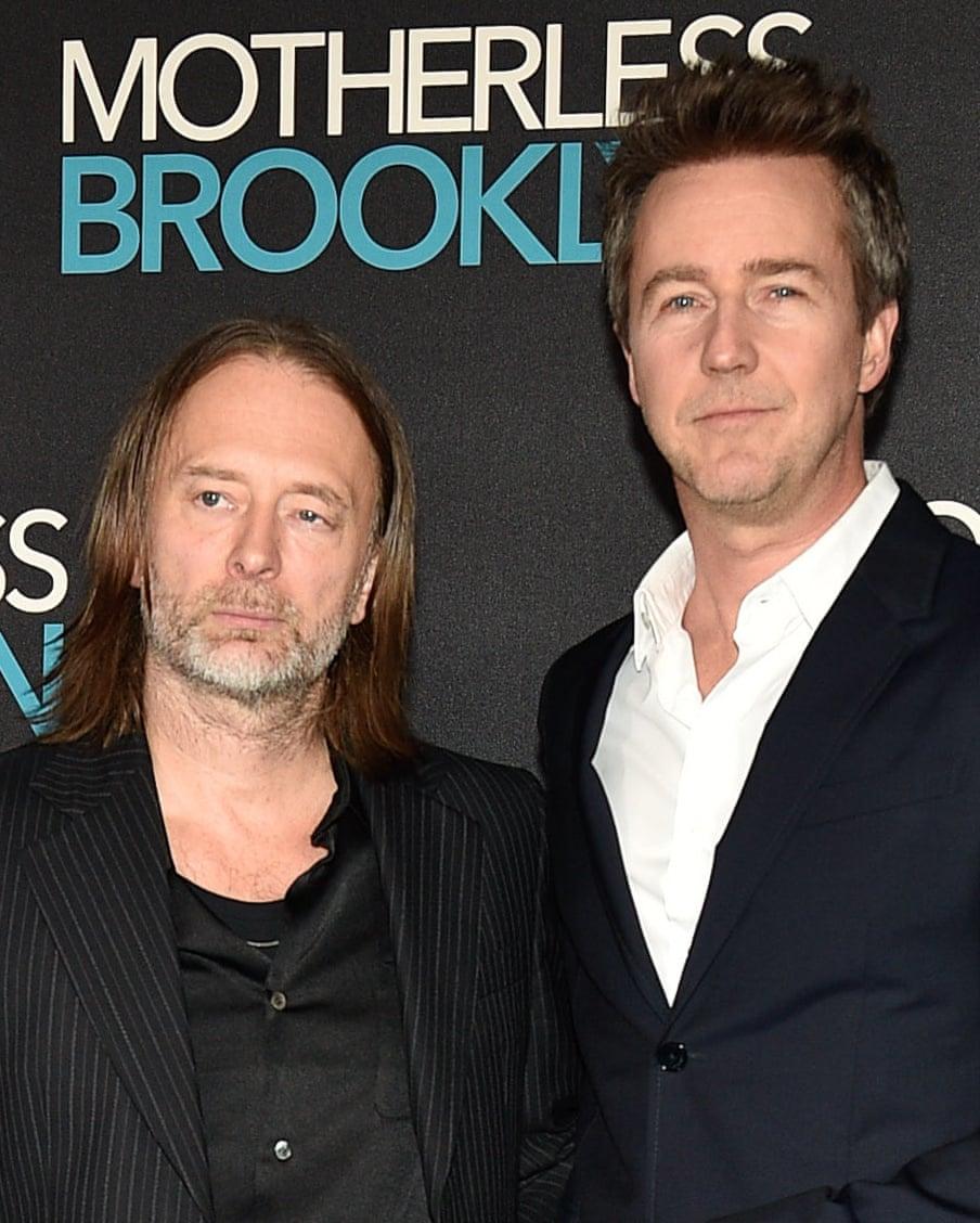 Thom Yorke y Edward Norton